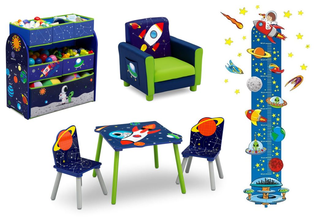 detská izba pre chlapca, chlapčenská detská izba, detské doplnky vesmir, detske dekoracie planety, detske dekoracie raketa